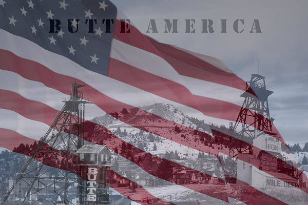 Butte America Photographs Print featuring the photograph Butte America by Kevin Bone