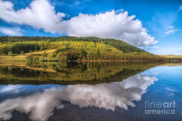Betws Y Coed Print featuring the photograph Autumn Clouds by Adrian Evans