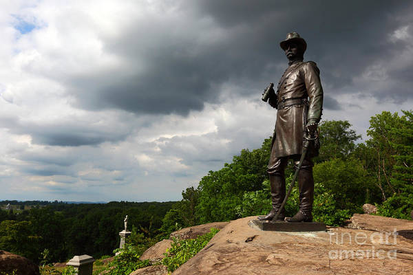 Gettysburg Print featuring the photograph Little Round Top Hill Gettysburg by James Brunker