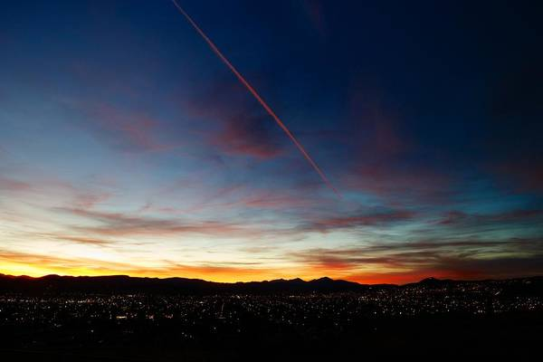 Sunset Print featuring the photograph Mining City Sunset by Kevin Bone