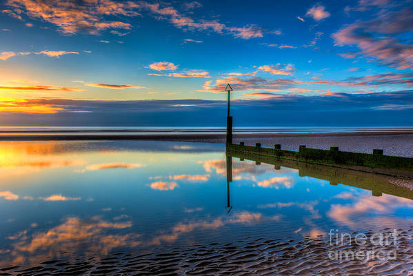 Sunset Print featuring the photograph Reflections by Adrian Evans