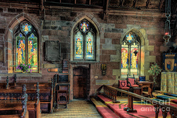 Aisle Print featuring the photograph Stained Glass by Adrian Evans