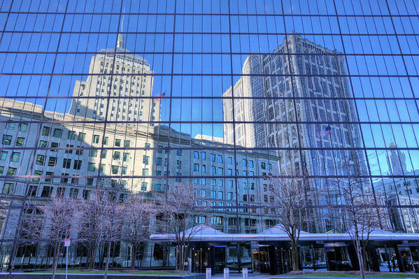 Boston Skyline Print featuring the photograph The Boston Skyline by JC Findley
