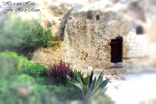 Israel Print featuring the photograph The Empty Tomb by Thomas R Fletcher