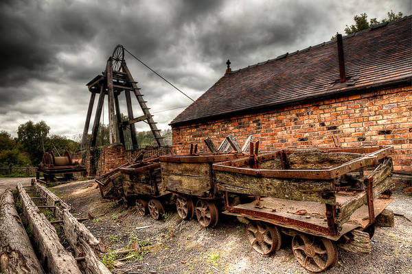 Architecture Print featuring the photograph The Old Mine by Adrian Evans