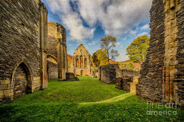 13th Century Print featuring the photograph Valle Crucis Abbey Ruins by Adrian Evans