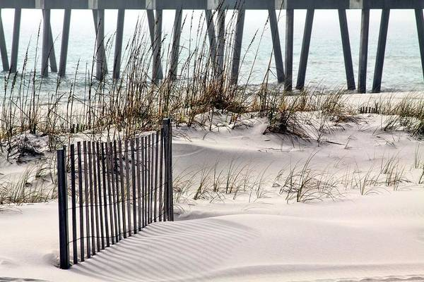 Beach Print featuring the photograph White Sands Of Pensacola Beach by JC Findley