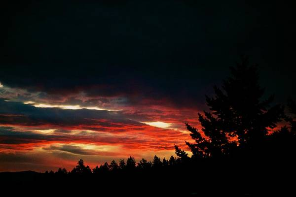 Sunset Print featuring the photograph Eye Of Halloween by Kevin Bone