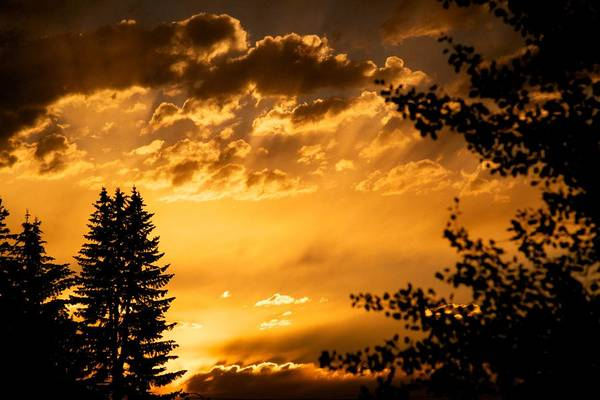 Sunset Print featuring the photograph Golden Sky 2 by Kevin Bone