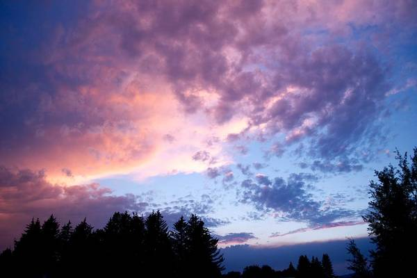Sunset Print featuring the photograph Marble Sky by Kevin Bone