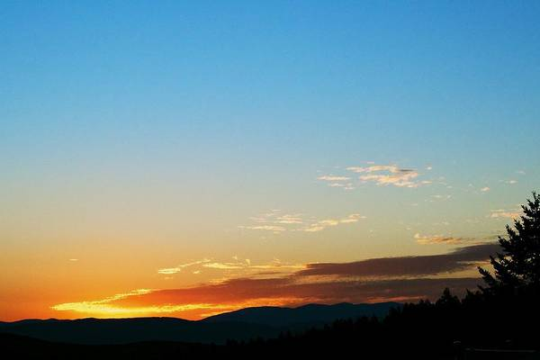 Sunset Print featuring the photograph New Lazy Summer Day by Kevin Bone