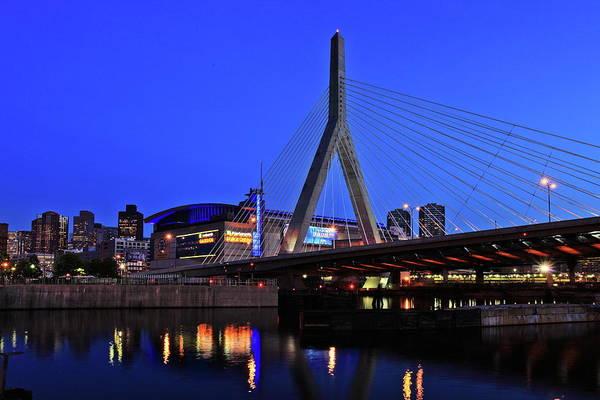 Boston Print featuring the photograph Boston Garden And Zakim Bridge by Rick Berk