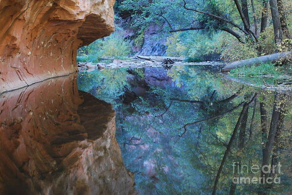 Sedona Print featuring the photograph Fully Reflected by Heather Kirk