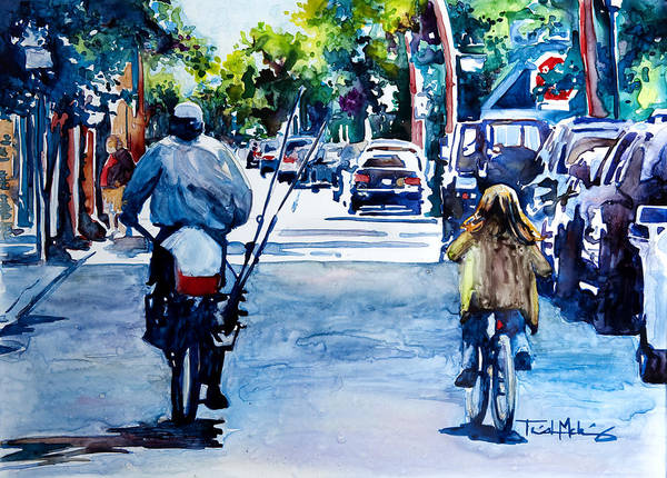 Charleston Print featuring the painting Quality Time by Trish McKinney