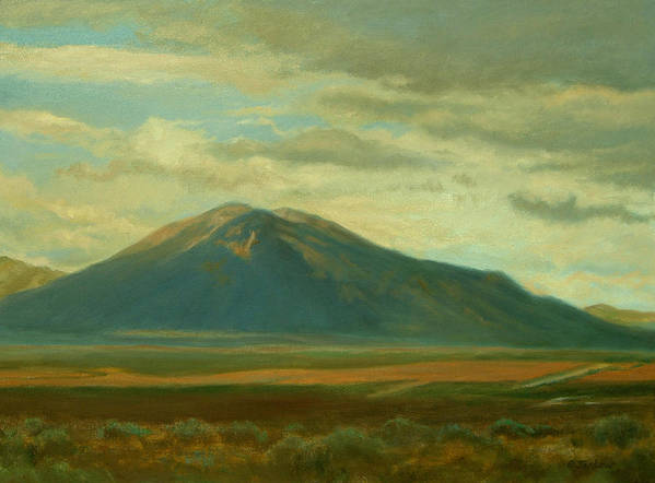 Southwest Print featuring the painting Outside Of Taos by Phyllis Tarlow