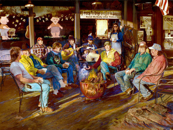 Men Print featuring the photograph Hillbilly Happy Hour by Anne Goetze