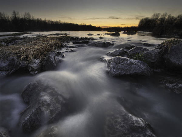 Landscapes Print featuring the photograph Silky River by Davorin Mance
