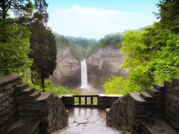 Waterfall Print featuring the photograph Taughannock Falls by Jessica Jenney