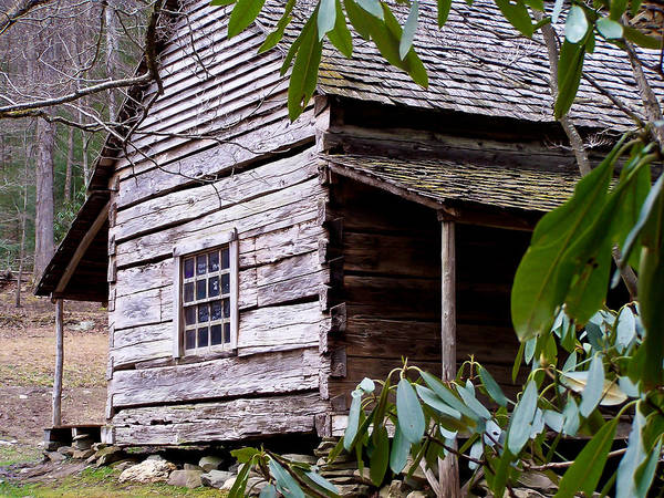 Appalachian Print featuring the photograph Cades Cove Cabin by Jim Finch
