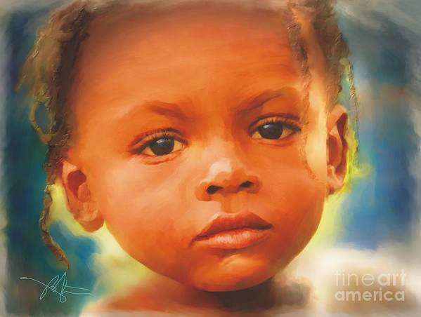 Haiti Print featuring the painting Through My Eyes by Bob Salo