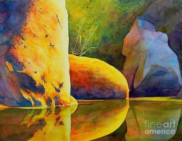Watercolor Print featuring the painting Reflection by Robert Hooper