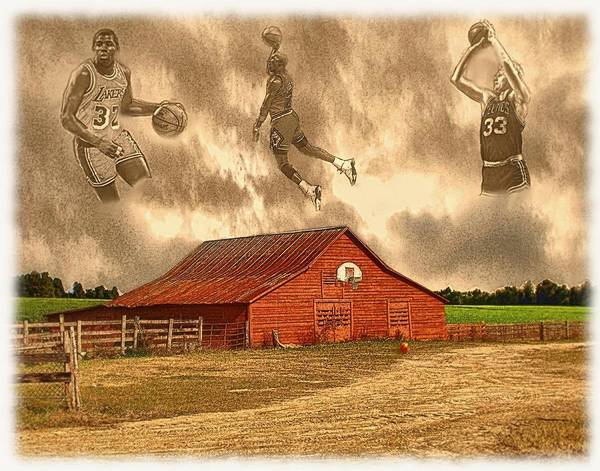 Art Print featuring the painting Hoop Dreams by Charles Ott