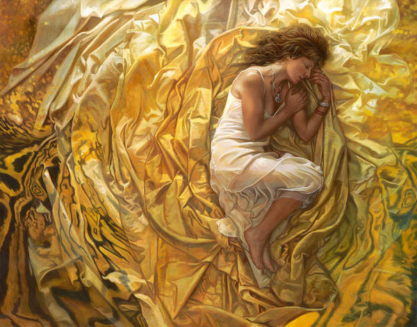 Conceptual Print featuring the painting Santita by Mia Tavonatti