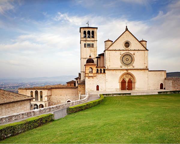 Italy Print featuring the photograph Basilica Of Saint Francis by Susan Schmitz