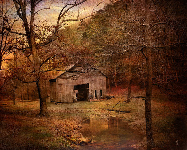 Abandoned Print featuring the photograph Abandoned Barn by Jai Johnson