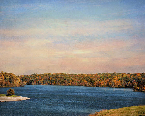 Autumn Print featuring the photograph Autumn At Lake Graham by Jai Johnson