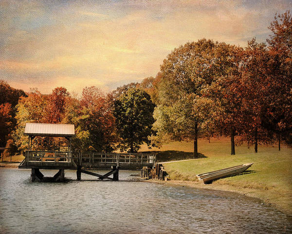 Autumn Print featuring the photograph Dock For Two by Jai Johnson