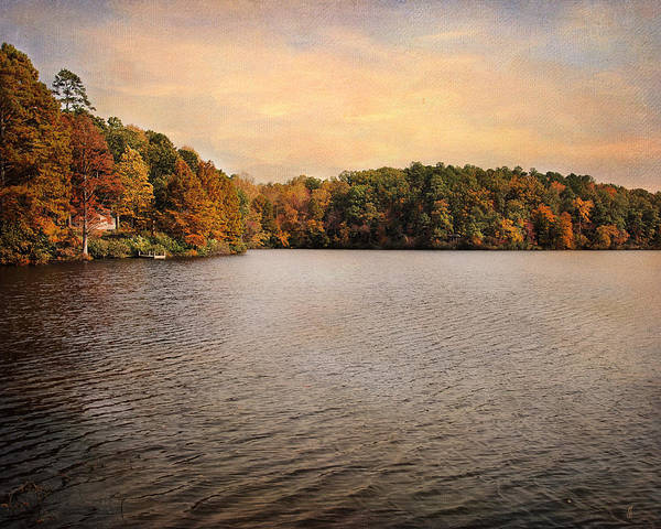 Autumn Print featuring the photograph Lakeside Morning by Jai Johnson