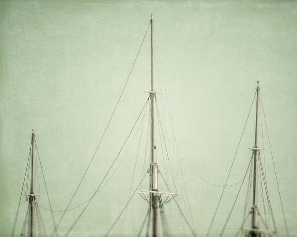 Nautical Print featuring the photograph Three Masts by Lisa Russo