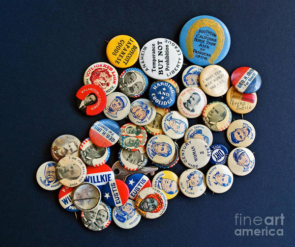 Buttons Print featuring the photograph Buttons by Gwyn Newcombe