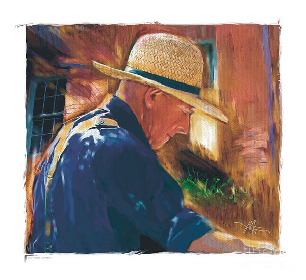 Farmer Print featuring the digital art Early To Rise . . . by Bob Salo