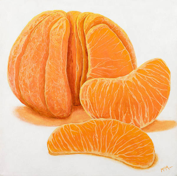 Tangerine Print featuring the painting My Clementine by Garry McMichael