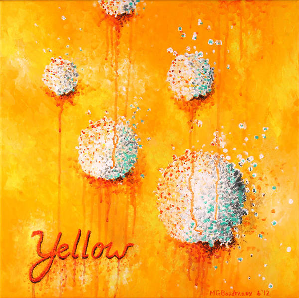 Abstract Print featuring the painting Yellow by Michelle Boudreaux