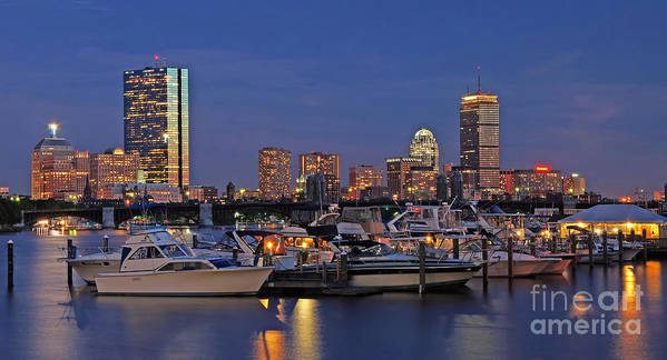 Charles River Yacht Club Print featuring the photograph An Evening On The Charles by Joann Vitali