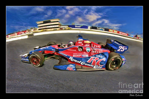 Marco Andretti Print featuring the photograph Marco Andretti by Blake Richards
