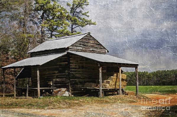 North Carolina Print featuring the photograph Tobacco Barn In North Carolina by Benanne Stiens