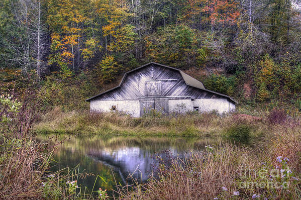 Autumn Landscape Print featuring the photograph A Is For Autumn by Benanne Stiens