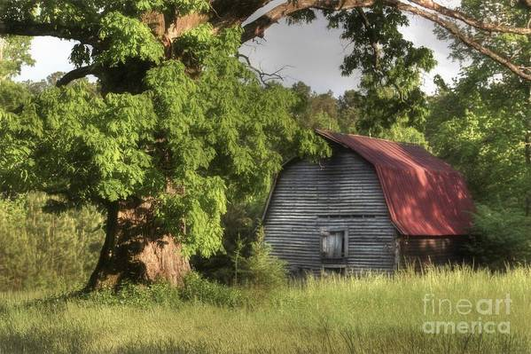 Barn Print featuring the photograph Oak Framed Barn by Benanne Stiens