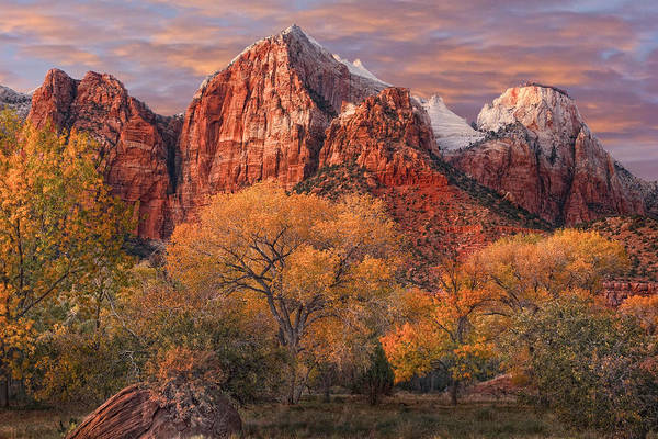 Zion National Park Print featuring the photograph Zion National Park by Utah Images