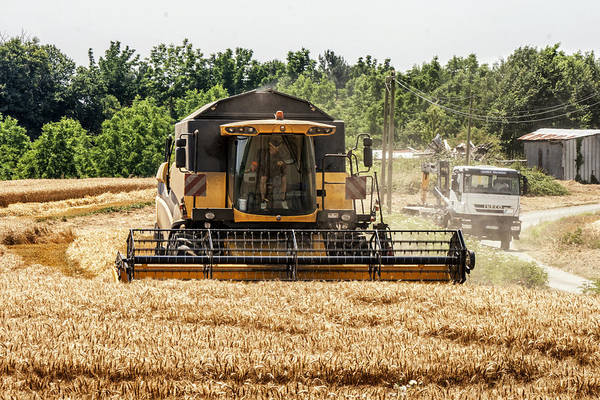 Industry Print featuring the photograph Combine Harvester by Georgia Fowler