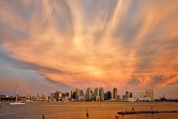 Amazing Sky Print featuring the photograph San Diego Cloud Burst by Peter Tellone