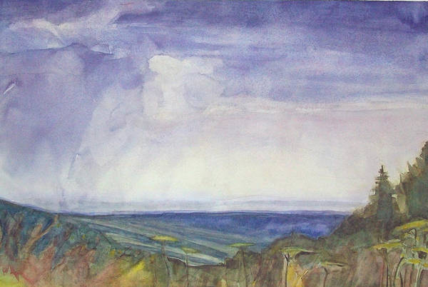 Summer Storm Print featuring the painting Storm Heaves - Hog Hill by Grace Keown