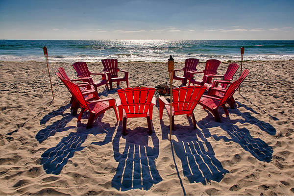 Beach Print featuring the photograph Waiting For The Party by Peter Tellone