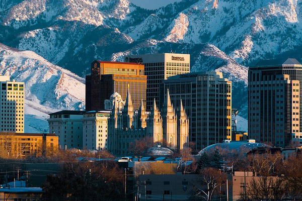 Salt Lake City Utah Usa Print By Utah Images