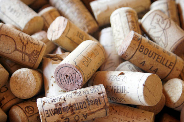 Wine Corks Print featuring the photograph French Wine Corks by Georgia Fowler