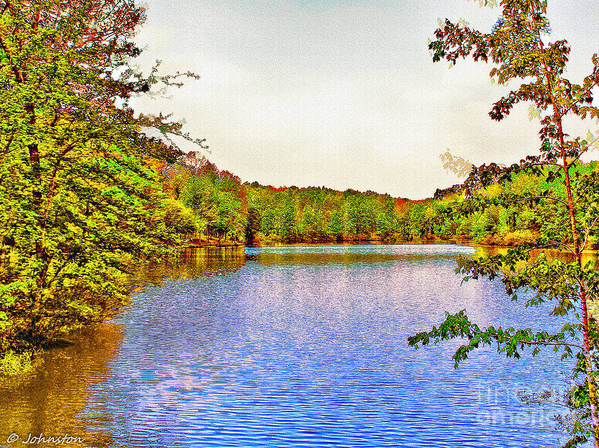 Thousand Trails Print featuring the photograph Thousand Trails Preserve Natchez Lake by Bob and Nadine Johnston